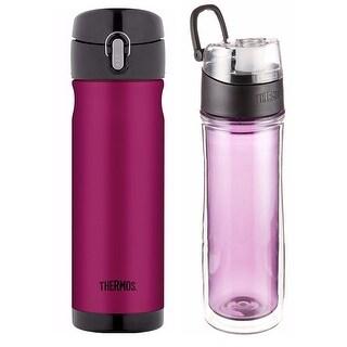 Thermos 16oz Stainless Steel Travel Bottle w/ 18oz DBL Tritan Hydration Bottle