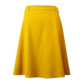 Nine West Women's Belted Bottom Flare Skirt - regal purple|https://ak1.ostkcdn.com/images/products/is/images/direct/c7bd3df1ce69e05019c93d9010575b0aa191509f/Nine-West-Women%27s-Belted-Bottom-Flare-Skirt.jpg?impolicy=medium