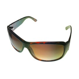 Kenneth Cole Reaction Womens Sunglass Tortoise Plastic Rectangle Wrap KC1055 426