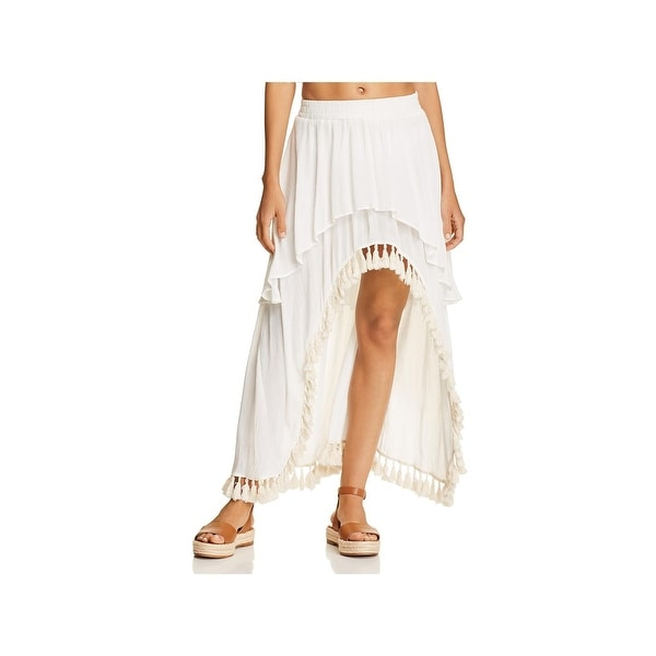 6ebff872a6 Shop Surf Gypsy Womens Crinkled Hi-Low Skirt Swim Cover-Up - M ...