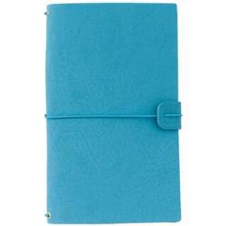 "Rich Teal - Freckled Fawn Sleek Traveler's Notebook 9""X5.75"""