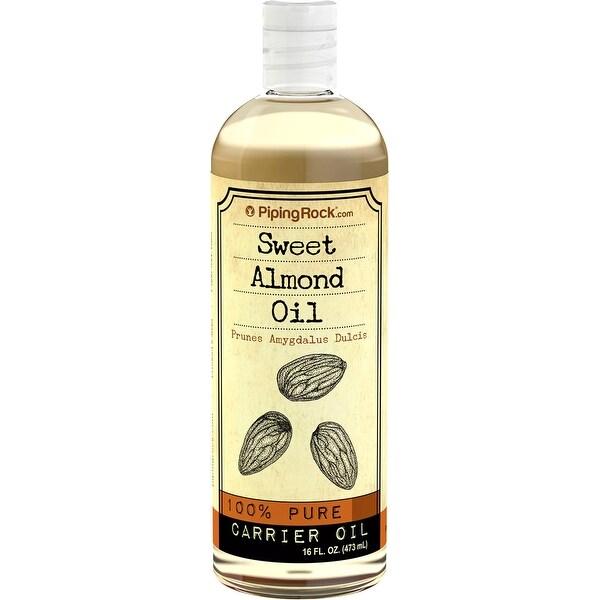 Piping Rock Sweet Almond Oil 100% Pure Carrier Oil, 16 fl oz (473 ml) Bottle