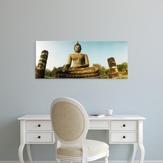 Easy Art Prints Panoramic Image 'View of a statue of Buddha, Sukhothai Historical Park, Sukhothai, Thailand' Canvas Art