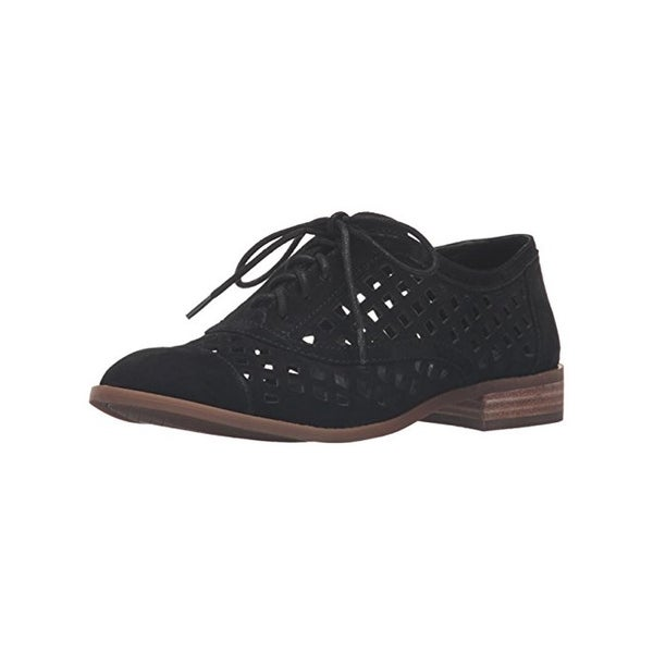 Jessica Simpson Womens Dalasia Oxfords Suede Cut-Out