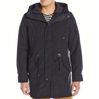 Cole Haan NEW Black Men XL Full Zip Insulated Anorak Hooded Parka Coat