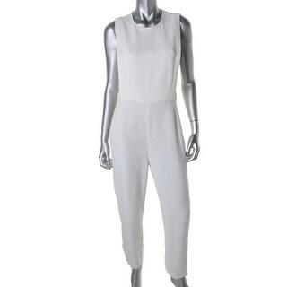 Theory Womens Remaline Crepe Sleeveless Jumpsuit - 0