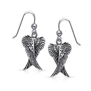 Angel Wings Dangle Earrings 925 Sterling Silver
