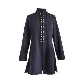 April Cornell Chinese Coins Jacket - Women's Long Sleeve Open Front Fashion Coat