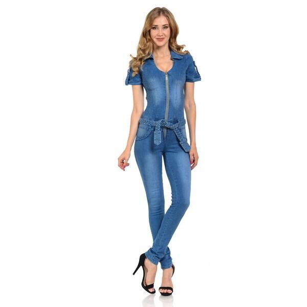 Shop Mmichel Womens Jumpsuit Romper Skinny Style 424 Color