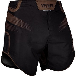 Venum Tempest 2.0 Lightweight Mid-Thigh MMA Fight Shorts - Black/Brown