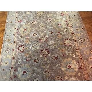 Safavieh Handmade Anatolia Traditional Oriental Tan/ Ivory Hand-spun Wool Rug (5' x 8')