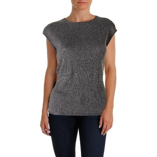Calvin Klein Womens Marled Jewel Tank Top Sweater