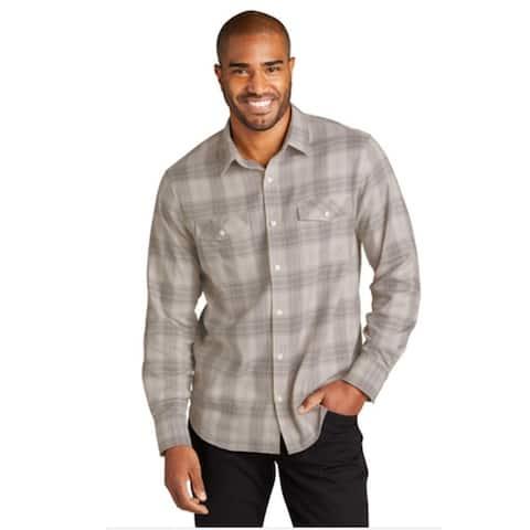 Port Authority Men's Long Sleeve Plaid Casual Shirt