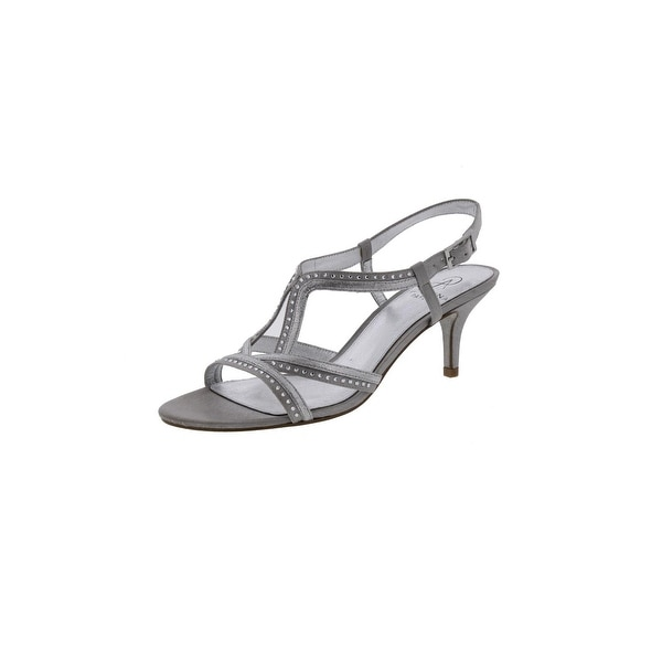 Adrianna Papell Womens Dress Sandals Open Toe Rhinestone - 7.5 medium (b,m)