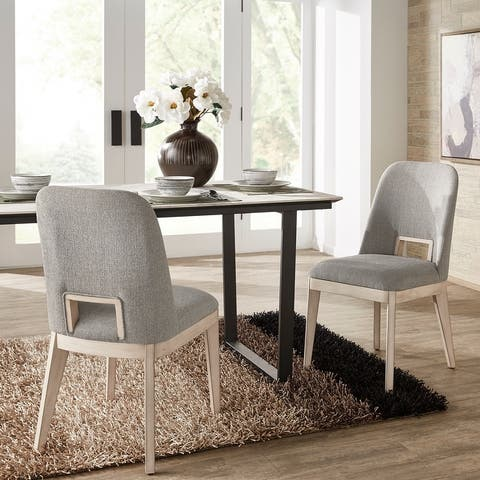 Hawthorne Light Grey Heathered Dining Chair (Set of 2) by iNSPIRE Q Modern