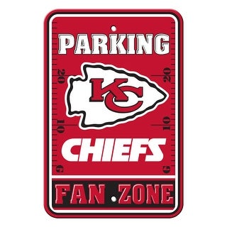 FREMONT DIE Inc Kansas City Chiefs Plastic Parking Sign - Fan Zone Plastic Parking Sign - Fan Zone