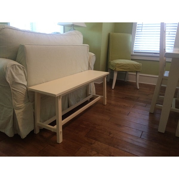 Kyoto Antique White Wooden Bench - Free Shipping Today - Overstock ...