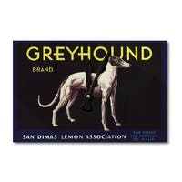 San Dimas CA Greyhound Citrus Crate Vintage Label (Acrylic Wall Clock) - acrylic wall clock