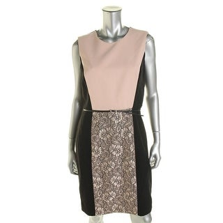 Calvin Klein Womens Colorblock Knee-Length Wear to Work Dress - 14