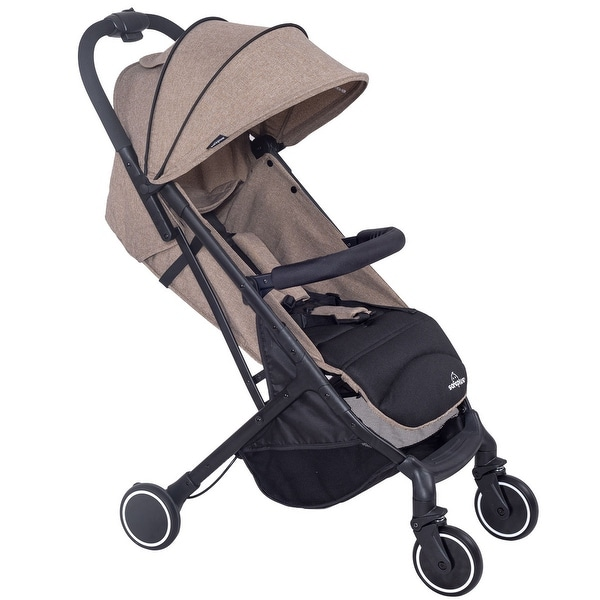 Lightweight Foldable Baby Kids Travel Stroller Pushchair Buggy Newborn Infant - COFFEE