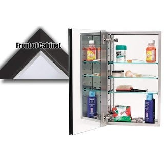 "Alno MC30244 3000 Series 15"" x 25"" Single Door Recessed Medicine Cabinet with St"