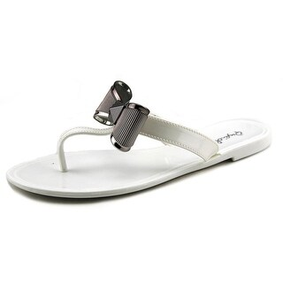 Qupid Getty 04A Women Open Toe Synthetic Thong Sandal