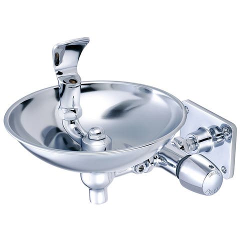 Pioneer Faucets 0366-N2HX8WB Central Brass Push Button Bubbler with - Polished Chrome