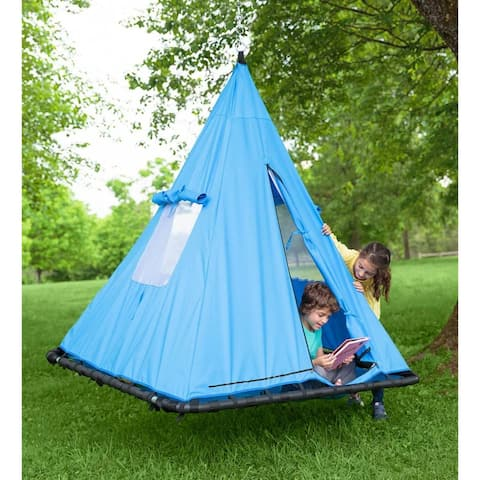 HearthSong Sky Tent Swing - Blue - One Size - One Size