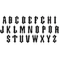 "Sizzix Bigz Xl Die By Tim Holtz 6""X13.75""-Gothic Alphabet"
