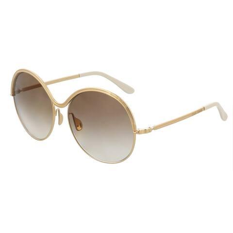 Elie Saab ES011S 001Q Gold Round Sunglasses - 59-16-140