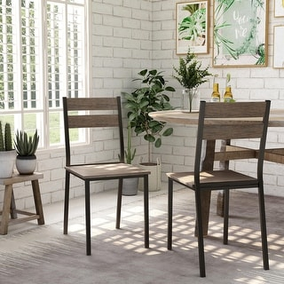 Link to Carbon Loft Maggio Industrial Antique Brown Side Chairs (Set of 2) Similar Items in Dining Room & Bar Furniture
