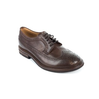 Brunello Cucinelli Mens Brown Leather Wing Tip Oxfords