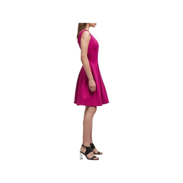 DKNY Womens Cocktail Dress Fit & Flare Scuba