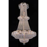 Swarovski Crystal Trimmed French Empire Chandelier With 21 Lights