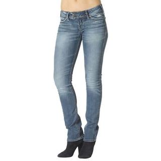 Silver Jeans Denim Womens Slim Bootcut Sanded Light Wash L12607SJL245