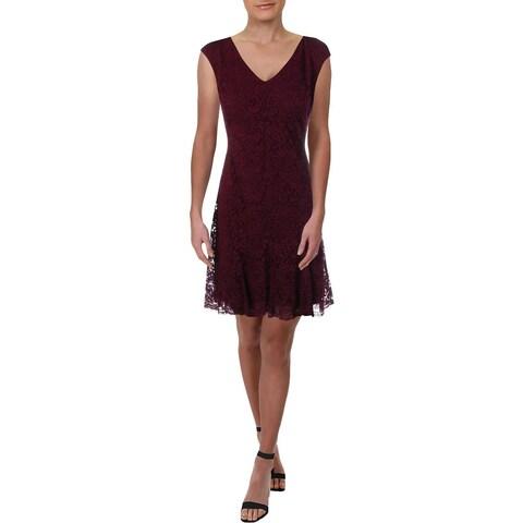 Lauren Ralph Lauren Womens Party Dress Lace Sleeveless