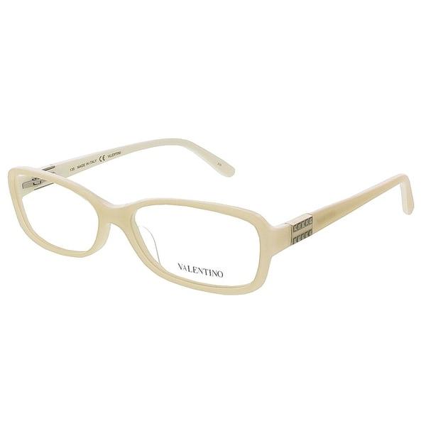 Valentino V2623 103 Ivory Rectangular Valentino Eyewear - 53-15-135