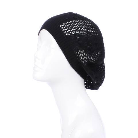 Womens Cut Out Beanie Hat