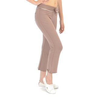 Elita Bamboo Cropped Lounge Pants In Hot Chocolate