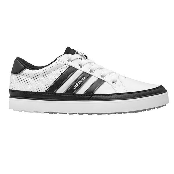 official photos 5bf00 d7493 Adidas Menx27s Adicross IV WhiteBlackSilver Metallic Golf Shoes
