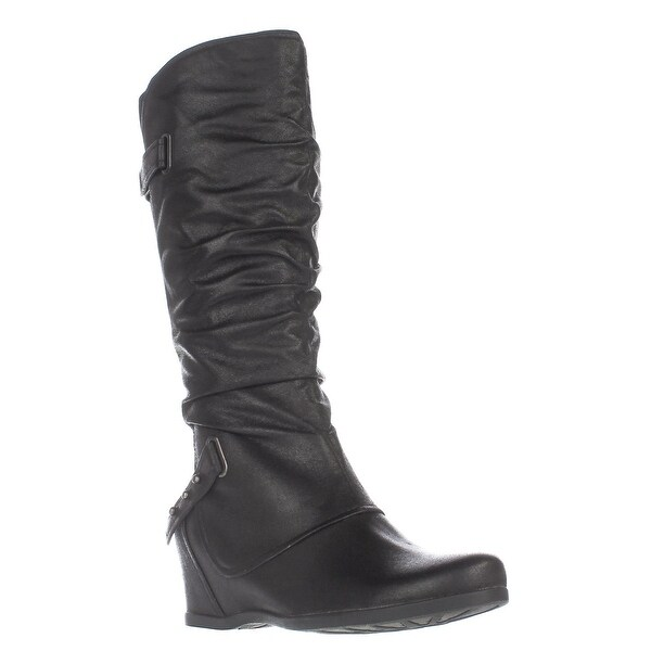Baretraps Quivina Wedge Knee High Boots, Black