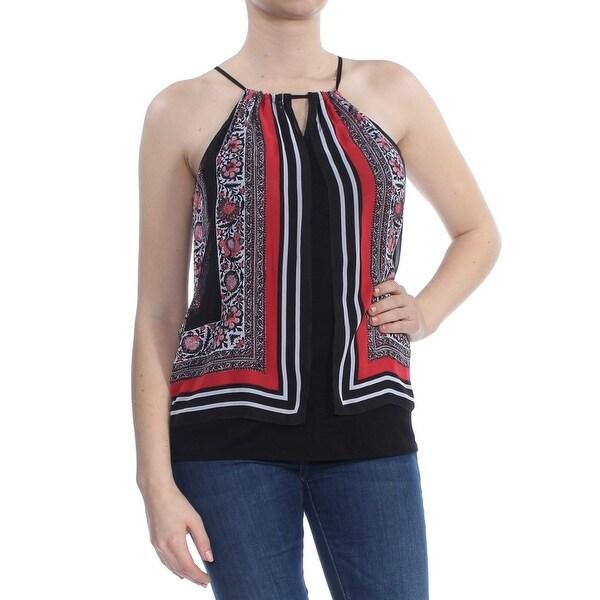 BCX Womens Black Printed Halter Top Size: M