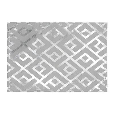 Trellis Silver Foil Printed Placemat - Set of 12