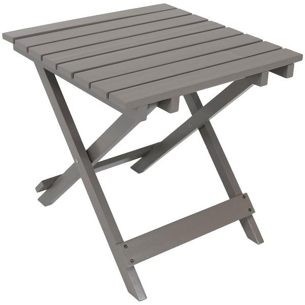 Sunnydaze Wooden Multi Use Folding Side Table   Multiple Colors