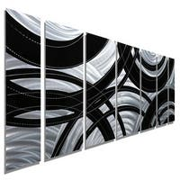 Statements2000 Black / Silver Contemporary  Metal Wall Art Painting by Jon Allen - Crossroads