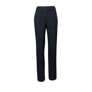 Tahari Women's Pauly/Margie/Seanlee Linen Blend Mid-Rise Trousers - Navy