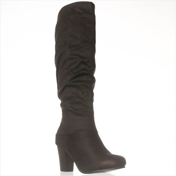 Just Fab Womens Helen Closed Toe Mid-Calf Fashion Boots