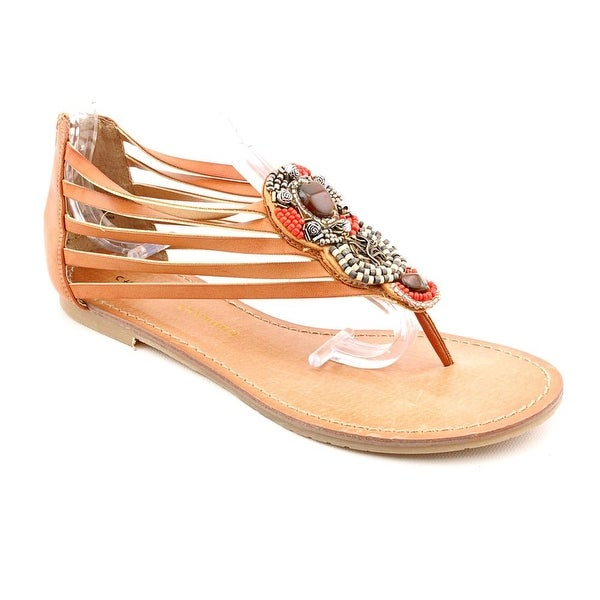 Chinese Laundry Great Fun Women Open Toe Synthetic Tan Thong Sandal