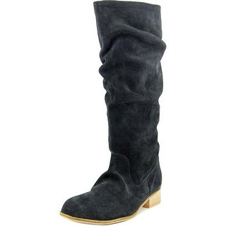 Charles By Charles David Joan Women Round Toe Suede Black Boot