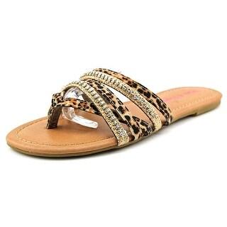 Pink & Pepper Solace Women Open Toe Canvas Tan Sandals